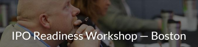 IPO Readiness Workshop Banner