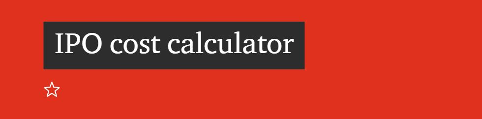 Calculate optimal size of ipo